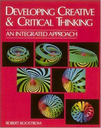 Download Developing Creative and Critical Thinking